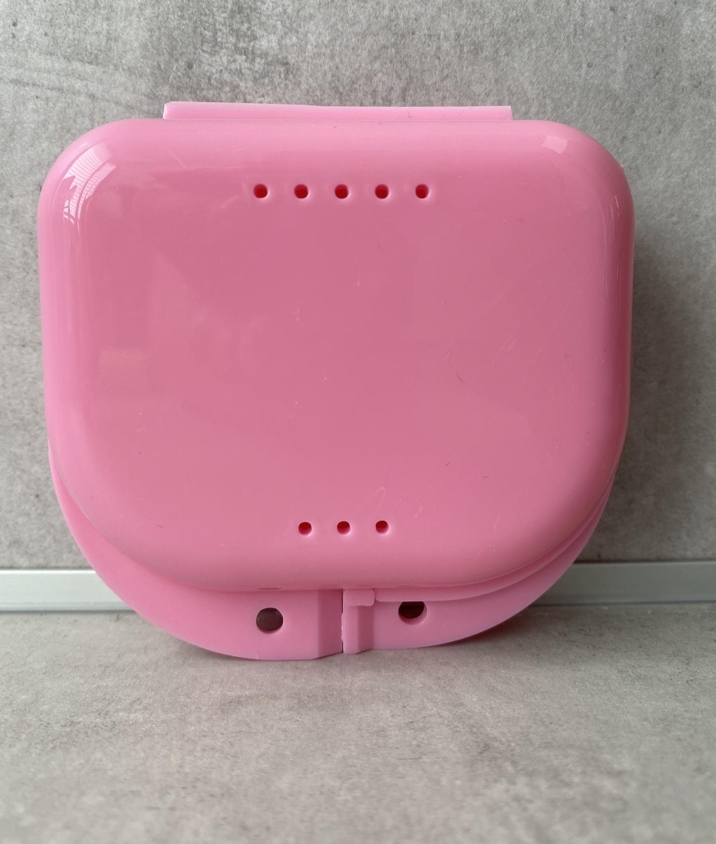 Zahnspangen-Box Travel Size Rosa