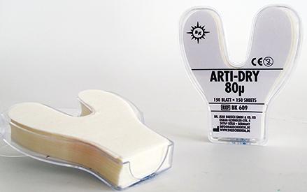 Arti-Dry Papier in Hufeisenform 120µ 100 Blatt