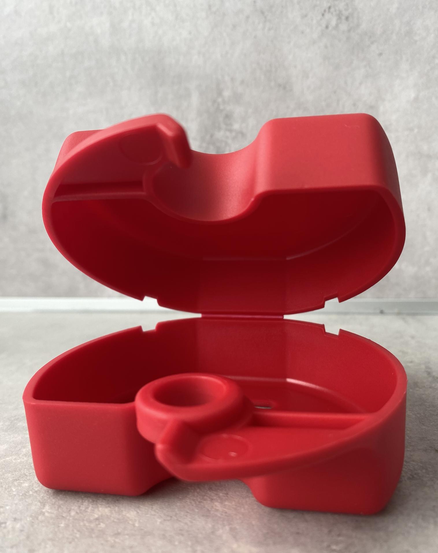 Zahnspangen-Box Rot